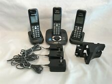Set of 3 Panasonic Telephones With Charging Bases And Wall Mount