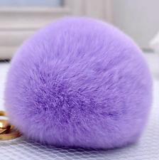 A Pair Rabbit Fur Large Pom Pom Shoe Clips Fluffy Ornament Heels Charm Decor 8CM
