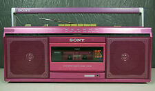 Rare Vintage Sony Boombox Ghettoblaster Hot Pink CFS-230 Fully Tested & Working