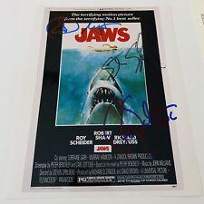 Roy Scheider Steven Spielberg Dreyfuss Signed Auto 8x10 Jaws Photo Jsa Letter