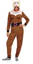 NWT MISS PIGGY Costume S 4 / 6 Fleece Hooded One-piece Pajama Union Suit DISNEY