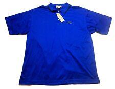 Izod Golf New Mens Blue Short Sleeve Polo Shirt Size Large