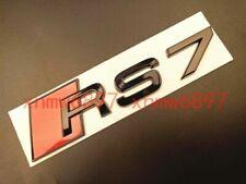 Gloss Black RS 7 Trunk Rear Number Letters Words Badge Emblem Sticker for Audi