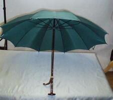 "Ladies Victorian ""BRIGG"" Faux Tortoiseshell Racing Green  Umbrella PARAGON FOX."