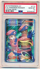 2016 Pokemon XY Steam Siege Pokemon Ranger Full Art Trainer 113/114 PSA 10 - QTY