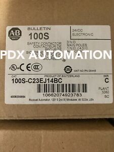 NEW 100SC23EJ14BC Allen Bradley Safety Contactor Catalog 100SC23EJ14BC Ser C