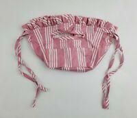 Longaberger Fabric Liner DUSTY ROSE Stripe For Kiddie Purse Basket USA Easter
