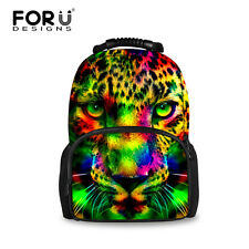Cool Leopard Bookbags Shoulder Backpack Outdoor Travel Hiking Rucksack Man Bags