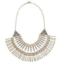 "Lucky Brand Modern Metals Collar Bib Necklace 16"" + 2"" NEW"