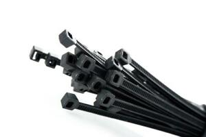 200mm Cable Ties to Tidy Wires, Pipes and Bars - Black, Nylon