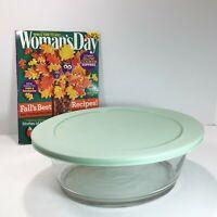 3.2 Q Oval Deep Casserole Baking Clear Glass Dish Martha Stewart Everyday w/ Lid
