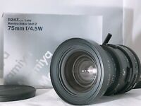 🟢 Unused in Box🟢Mamiya Sekor Shift Z 75mm f/4.5 W Lens For RZ67 Pro II IID 205