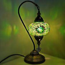 Authentique Turkish Coloré Lampe Lumière Style Tiffany Verre Bureau Table Ce Mis