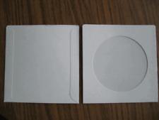 1000 Pcs 5 18 X 5 18 White Cardboard Cd Sleeves Withwindow Sf10