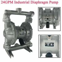 """24GPM Air-Operated Double Diaphragm Pump  115PSI, 1"""" Inlet Outlet Industry Fluid"""