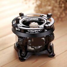 Traditional Black Alcohol Burner with Metal Stand for Tea Ceremony Teapot Warmer