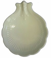 2 Limoges France White Porcelain Scallop Shell Nut / Candy Dish