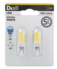 Diall G9 200lm LED Capsule Light bulb, Pack of 2