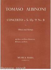 Albinoni: Concerto A 5 Op.9 N.8 Per Oboe E Archi