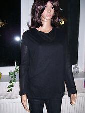 Twin-Set, Top und Pullover mit V-Ausschnitt, leicht, schwarz, Gr. 44/46, neu!