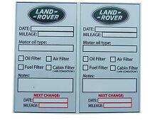 LAND ROVER Oil Change Service Reminder Sticker - SET of  10 PVC Stickers