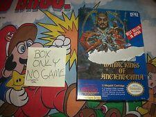 Bandit Kings of Ancient China NES BOX ONLY NO GAME Nintendo