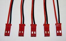 5 Stück JST BEC Buchse mit Kabel 100mm 5x Connector Lipo weiblich Male Stecker