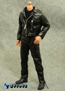 """ZY TOYS 1/6 Black Jacket Leather Clothes Suits Set For 12"""" Male Figure Body"""