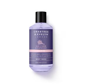 NEW Crabtree & Evelyn Lavender & Espresso Body Wash 250ml Natural Nourishing