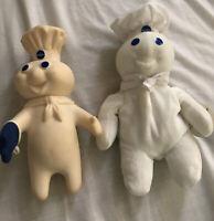 "VINTAGE 1997 PILLSBURY DOUGHBOY 8"" BEANIE/BEAN BAG POPPIN FRESH & Plastic One"