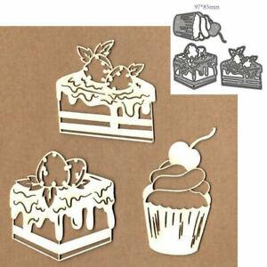 Die Cuts Desserts Cake Metal Cutting Dies Scrapbooking Paper Craft Card Making