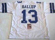 Michael Gallup Autographed Dallas Cowboys White Jersey JSA Witnessed COA