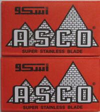 50 ASCO Super Stainless Double Edge Razor Blades
