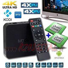 ANDROID FERNSEHER BOX MX UHD MEDIA PLAYER OCTA CORE 4K FULL HD WIFI LAN FUNKTION