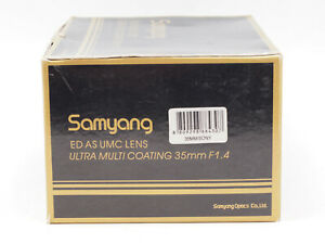 Samyang 35mm f1.4 as Umc [Sony / Minolta]