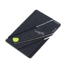 Outdoor Camping Credit Card Safet Foldable Knife Sharp Black Portable Knives