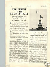 1936 PAPER AD Airplane 3 PG King's Cup Plane Race The Future Of Article