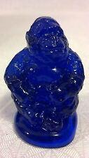 VINTAGE OLD BOYD GLASS COBALT BLUE SONNY GORILLA MONKEY WILD ANIMAL FIGURINE