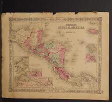 Johnson's Maps, 1864, Central America O3#68