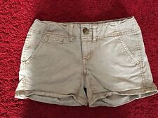 American Eagle Womens Tan Shorts Size 00 Shortie Pockets Stretch.