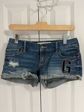 Gilly Hicks Denim Shorts Size 0 W25 Cheeky Stretch Blue