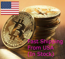 BITCOIN Physical Bitcoin in Protective Acrylic case FAST SHIPPING Commemorative