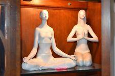 Lladro Porcelain Yoga Ii & Yoga l ( Rare set both 1 & 2 ) Free Ship