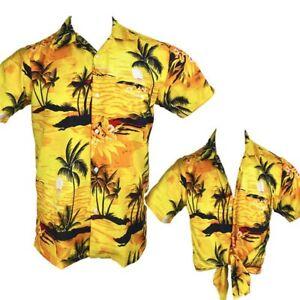Sunset Yellow Ladies Hawaiian Shirts Unisex