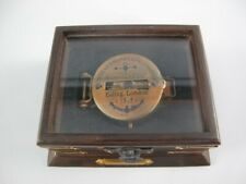 Direction and Compass WWI, Armee Compass from Antique Brass in Wooden Box