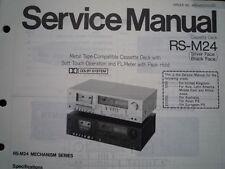 TECHNICS RS-M24 Cassette Tape Deck Service manual wiring parts diagram