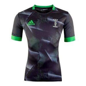 ADIDAS Football Harlequins Jersey Top Men's Black Sports T-Shirt UK Size XL New