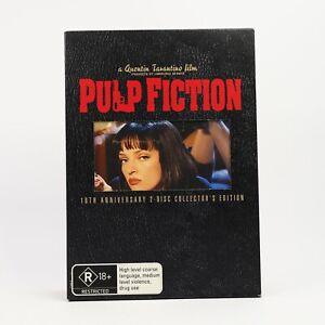 Pulp Fiction Quentin Tarantino 10th Ann 2 Disc Collectors Edition 2005 DVD R4 GC
