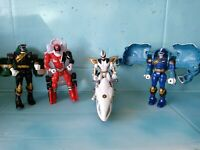 Vintage Mighty Morphin Power Rangers Action Figure Lot Saban Bandai 90s-2000s