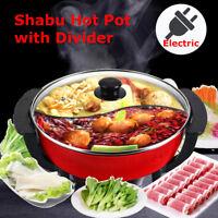 220V Electric Shabu Hot Pot 6L Non-Stick Home Dual Sided Kitchen Smokeless  ♪